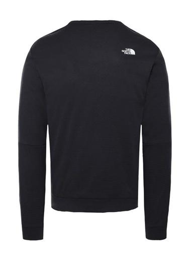 The North Face Train Crew Erkek Sweatshirt Siyah Siyah